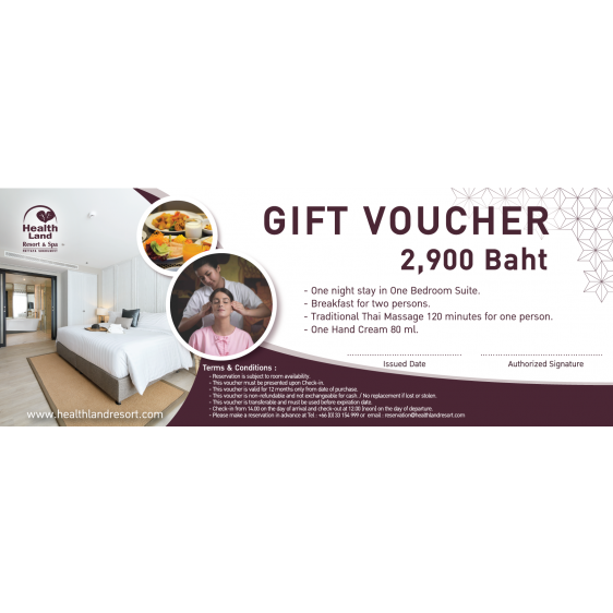 Health Land Resort&Spa Suite Room Gift Voucher
