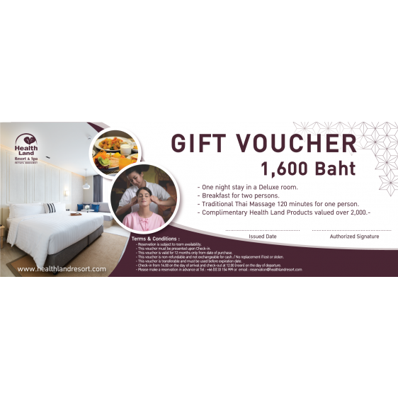 Health Land Resort & Spa Deluxe Room Gift Voucher