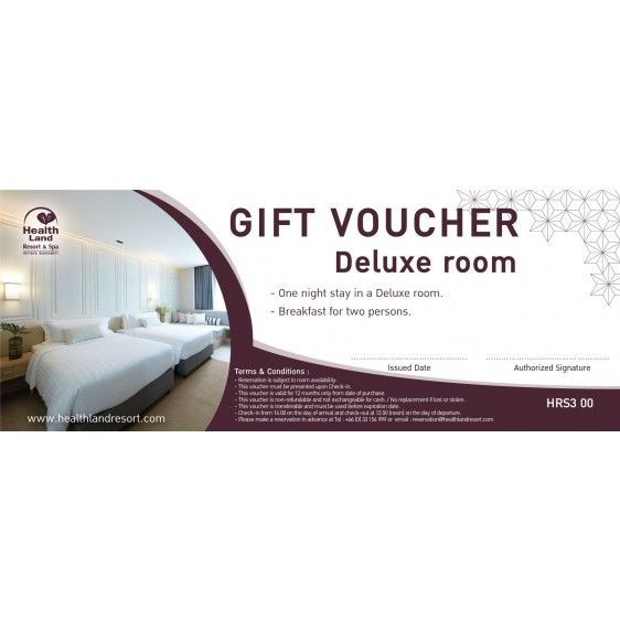 Health Land Resort & Spa One Night Stay in Deluxe Room Gift Voucher